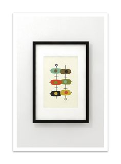 TANDEM - Giclee Print - Mid Century Modern Danish Modern Minimalist Cubist Modernist Abstract Eames. $24.00, via Etsy.