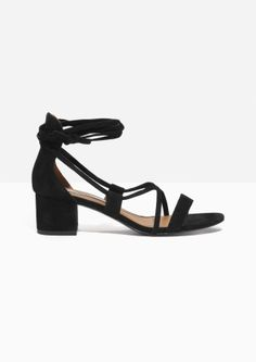 & Other Stories   Suede Lace Up Sandalette