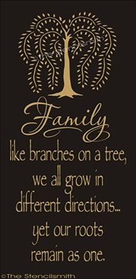 1388 - FAMILY like branches on a tree . roots-FAMILY like branches on a tree stencil roots remain as one willow tree grow different directions yet Great Quotes, Quotes To Live By, Me Quotes, Inspirational Quotes, People Quotes, Cutest Quotes, Motivational, Funny Quotes, Vision Board Diy