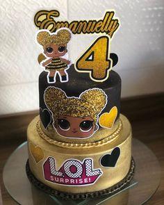 Doll Birthday Cake, Funny Birthday Cakes, Frozen Birthday Cake, Jojo Siwa Birthday, Happy Birthday Baby, Girl Birthday, Lol Doll Cake, Beautiful Birthday Cakes, Party Queen