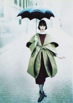Romeo Gigli unique designer fashion style pale green satin jacket