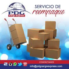 Al reempacarte tu carga podemos optimizar espacio, ahorrándote en el costo del envío #PDGCargoExpress