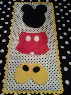 Mickey Mouse Crib/Toddler Bed Quilt by BetsysBabyBoutique19, $100.00