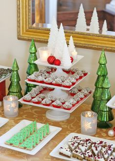 Classic Holiday Dessert Table
