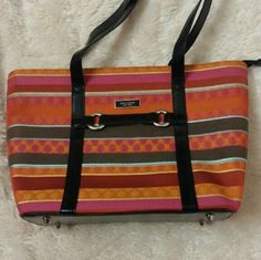 "Designer Inspired Purse *Gorgeous*Beautiful*Colorful* ! Large full zip tote bag/ Purse. Great condition & Mint inside.Wide 15"" Height 9.5"". Not Authentic & Very Inspired!! Designer Inspired Kate Bags Totes"