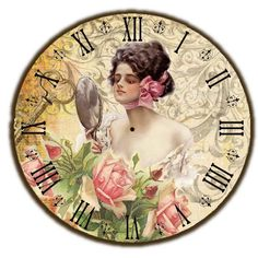 VK is the largest European social network with more than 100 million active users. Clock Art, Diy Clock, Clock Ideas, Paper Clock, Clock Decor, Wall Clocks, Vintage Pictures, Vintage Images, Dossier Photo