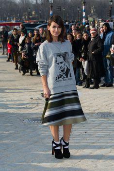 Miroslava at the Chloe Fashion Show in Paris #PFW