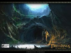 Here's just one of many Matte Paintings used in The Lord Of The Rings, I just love the choice of colors.