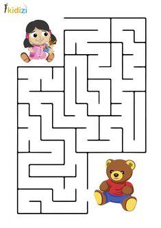Plansa educativa labirint 3