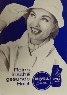 NIVEA Retroanzeige - 1964. #nivea #retro