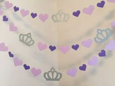 Princess First Birthday Purple - Princess Garland - Pink Princess birthday garland - Princess Birthday Party Decorations from anyoccasionbanners Princess Sofia Birthday, Princess Birthday Party Decorations, Sofia The First Birthday Party, Birthday Garland, Princess Party, Disney Princess, Purple Cards, Ideas Party, Card Stock