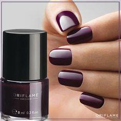 Oriflame Pure Colour Nail Polish Deep Plum