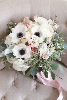 Pretty anemone bouquet | Vanessa Smith Photography |