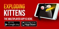 A Mobile Game for People who are into Kittens and Explosions and Corn Dogs and Sometimes Pigs. Exploding Kittens, Corn Dogs, Mobile Game, Google Play, How To Get, App, Games, Card Games, Apps