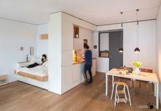 Дизайн небольшой квартиры Студия, кухня, спальня