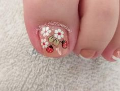 Pretty Nail Art, Print Tattoos, Nail Art Designs, Hair Beauty, Fairy, Stickers, Simple Toe Nails, Toe Nail Art