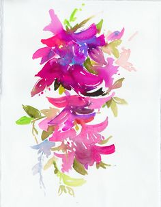 Bougainvillea impressions | Cate Parr #watercolor  #illustration