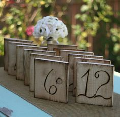 Wood Table Numbers Rustic Wedding Chic item E10116 by braggingbags, $59.99