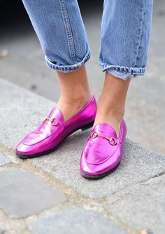 Loafer | Pink | Metallic | Denim | More on Fashionchick.nl