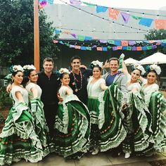 Met these handsome guys while performing at Burbank Studios Cinco de Mayo Celebration! @wallykurth @galengering #danielcrosgrove  #daysofourlives #balletdesallysavedra #balletfolklorico #classicalspanish #dancecompany #cincodemayo