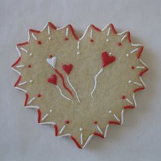 Valentine Sugar Cookie  ~ Lightly Decorated ~