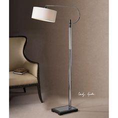 Uttermost Adara Glass & Chrome Floor Lamp 28594-1