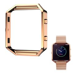 Happy Hours - Stainless Steel Frame Holder Cover for Fitbit Blaze Smart Fitness Watch / Luxury Replacement Accessories Housing Protective Case Shell(Rose Gold) > Insider's special review you can't miss. Read more  : Travel Gadgets