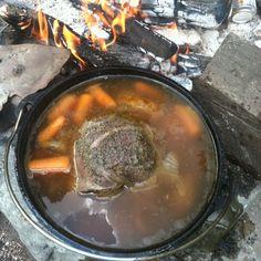 Dutch oven deer roast.