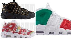 3160dfb8ba694 The Nike Air More Uptempo 96 Euro Pack Releases Today. Buy NowAir  JordansNike ...