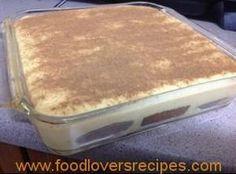 Tart Recipes, Pudding Recipes, Sweet Recipes, Baking Recipes, Dessert Recipes, Microwave Recipes, Kos, Melktert Recipe, Korslose Melktert