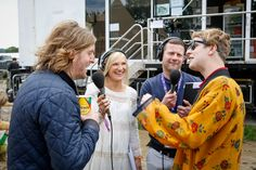 Jo Whiley and Dermot O'Leary talk to Tom Odell and Andy Burrows backstage at Glastonbury Festival - remembering their greatest ever Glastonbury adventures: http://www.bbc.co.uk/programmes/p03zgjpp #music #malefashion #mensfashion #malestyle #festivalstyle #florals #razorlight