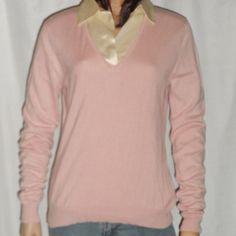 Lauren Ralph Lauren Blouse Silk Cashmere Size Large L Pink Casual Top #LaurenRalphLauren #Blouse #Casual