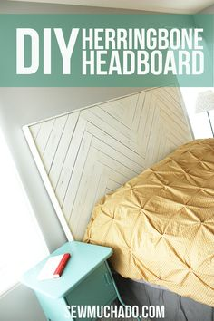 DIY Herringbone Headboard