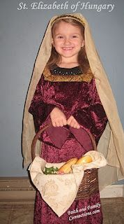 St Elizabeth of Hungary Costume and step-by-step instructions to make head piece  | Catholic Inspired ~Arts, crafts, games, and more!