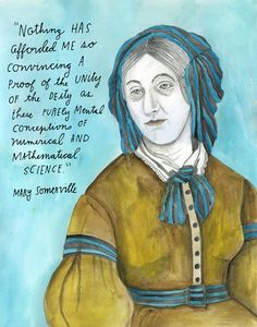 Scottish mathematician, science writer, and polymath Mary Fairfax Somerville (December 26, 1780—November 28, 1872) http://thereconstructionists.org/