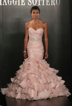 Beautiful Pink Wedding Dress! Really thinking of pink instead of white!