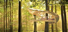 Il Resort Ecologico Sospeso nella Foresta http://www.differentdesign.it/resort-ecologico-sospeso-foresta/ Natura e #design di fondono nel mirabile progetto di #resort #ecologico E' Terra #Sàmara, costruito nel #Parco Nazionale di Bruce, in #Ontario...