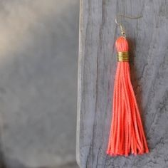 Tassels are all the rage! Here's an easy tutorial for DIY Tassel Earrings. (I made these while in labor, so I promise, it's simple!)