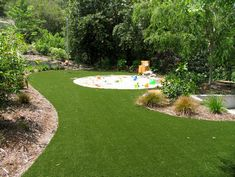 How To Babyproof Your Yard, love the sunk in sand pit