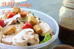 DIY Salad Bar for Your fridge. Some good ideas for prepping for healthy lunches in Summer. Salad Bar, Soup And Salad, Great Salad Recipes, Yummy Recipes, Clean Eating Chicken, Whats For Lunch, How To Eat Better, Dinner Salads, Summer Salads