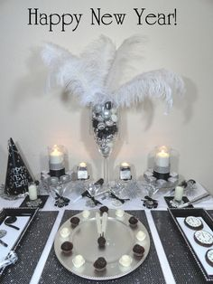 Black and White New Years Party Decor #DIY #Party