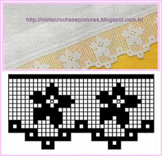 MIRIA CROCHÊS E PINTURAS: BARRADOS DE CROCHÊ FLORAIS Crochet Border Patterns, Crochet Boarders, Crochet Motifs, Crochet Cross, Thread Crochet, Love Crochet, Irish Crochet, Crochet Designs, Crochet Flowers