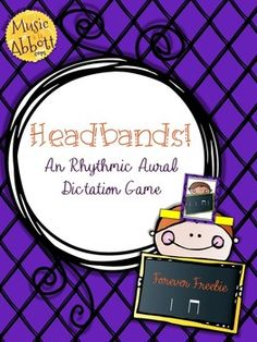 FREE on TpT - Headbands!  A Rhythm Decoding Game, ta ti-ti - Musical a la Abbott - Includes ta and ti-ti combinations in stick notation.