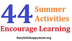 Stop Summer Slide - students can lose up to 2 months of knowledge over the summer.  Use these ideas along with Summer Points.