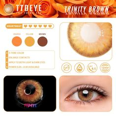It is the time you have wasted for your rose that makes it so important. TTDeye Trinity Series colored contacts, ones you need to feel their beauty with your heart. Dark Eyes, Brown Eyes, Beauty Tips For Hair, Beauty Hacks, Coloured Contact Lenses, Fantasy Make Up, Circle Lenses, Colored Contacts, Flawless Makeup