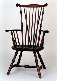 Braced Fan Back Windsor Armchair Philadelphia, Pennsylvania, Circa 1770  Private Collection