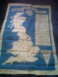 1966-World-Cup-tea-towel-Super-Rare-Vintage