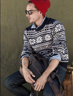 Casual sweater pattern.