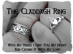 Irish Claddagh rings.