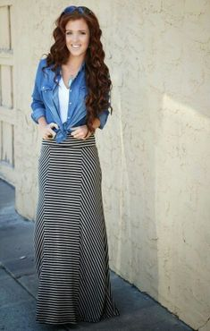 Casual maxi and jean button up